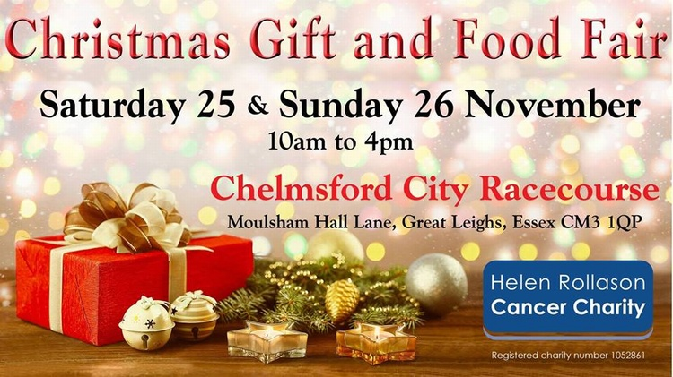 CHRISTMAS GIFT AND FOOD FAIR - 25TH & 26TH NOVEMBER - CHELMSFORD CITY RACE COURSE 10AM TO 4PM